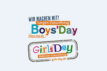 Symbolbild mit buntem Logo zum Boys' and Girls' Day